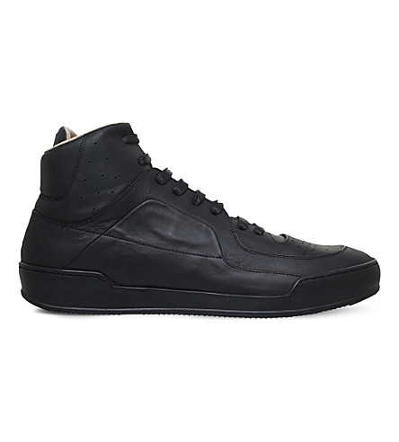 MAISON MARGIELA Leather high-top sneakers (Black