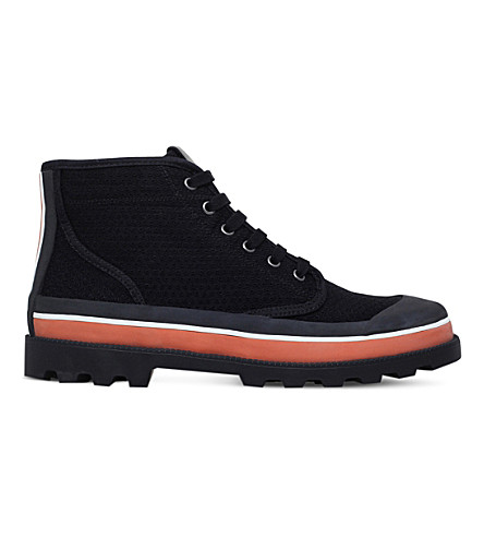 VALENTINO High-top canvas trainers (Black