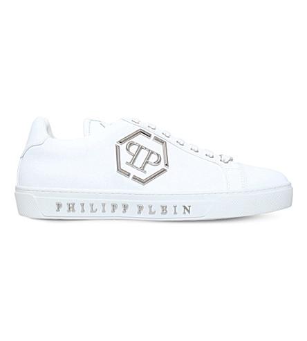 Zapatillas De Deporte Con Cordones De Clavos - Blanco Plein Philipp Ver venta en línea Precio más barato de venta O8k2ZOSYS