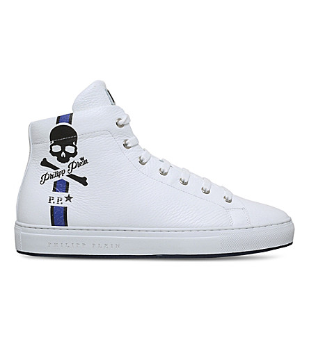 PHILIPP PLEIN Hot Spring high-top leather trainers