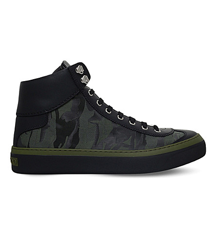 JIMMY CHOO Argyle camo hi top (Black/comb