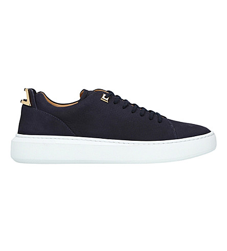 BUSCEMI Uno low nubuck trainers (Navy