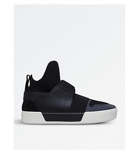 BALENCIAGA Mesh Sock high-top leather and mesh trainers (Black