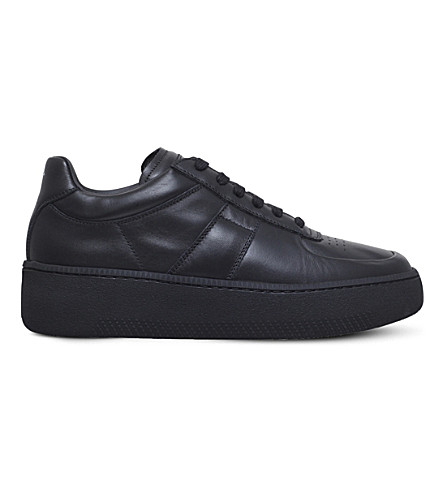 MAISON MARGIELA Leather low-top trainers (Black