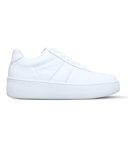MAISON MARGIELA Leather wedge sole low-top trainers (White