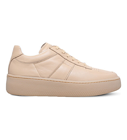 MAISON MARGIELA MM1 platform leather trainers (Beige