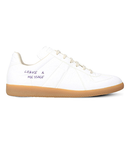MAISON MARGIELA Replica notes leather low-top trainers (White