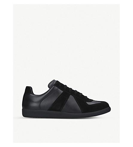MAISON MARGIELA Replica leather trainers (Black