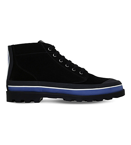 VALENTINO ID suede high-top trainers (Black