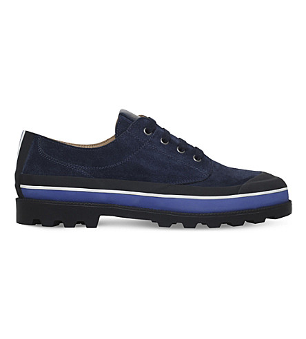 VALENTINO ID suede low-top trainers (Navy