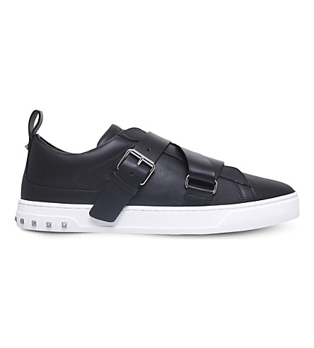 VALENTINO V-punk leather trainers (Black