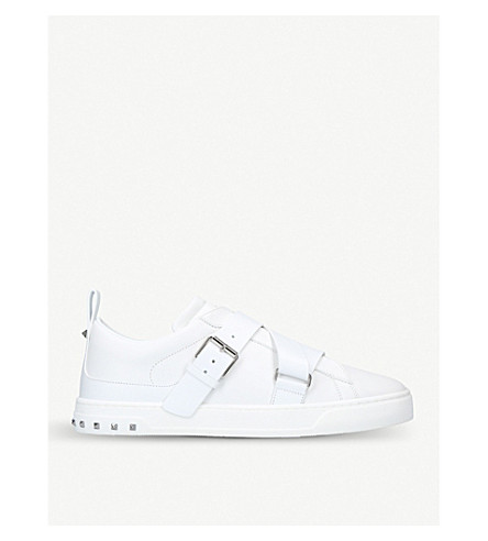 VALENTINO V-punk leather trainers (White