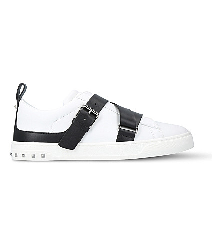VALENTINO V-punk leather trainers (White/blk