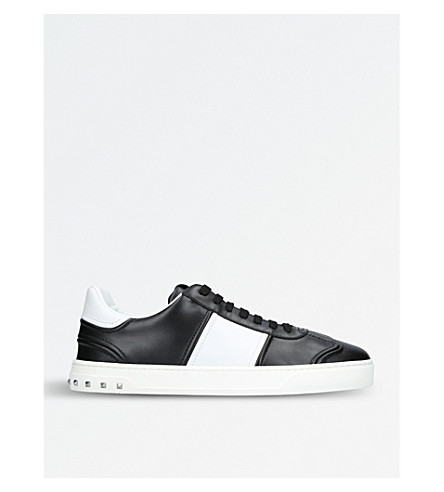 VALENTINO Fly Crew leather trainers (Blk/white
