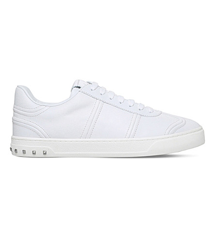 VALENTINO Fly Crew leather trainers (White