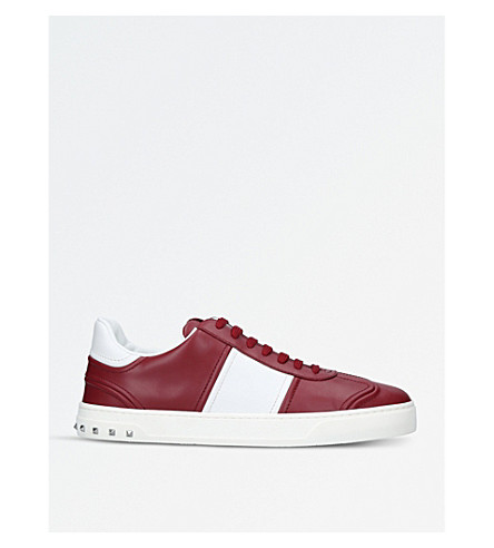 VALENTINO Fly Crew leather trainers (Red