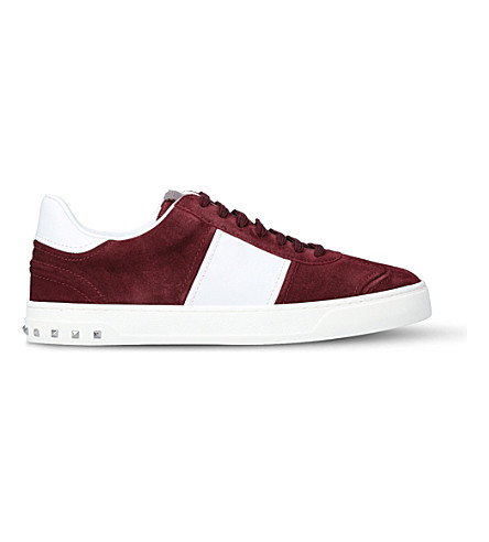 VALENTINO Fly crew suede trainers (Wine