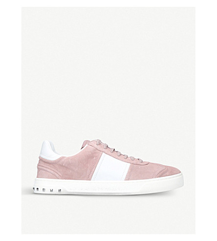 VALENTINO Fly Crew suede trainers (Pink