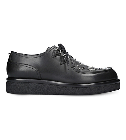 VALENTINO Garavani creeper leather Derby shoes (Blk/other