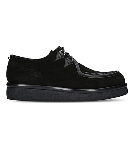 VALENTINO V Creep suede platform shoes (Black