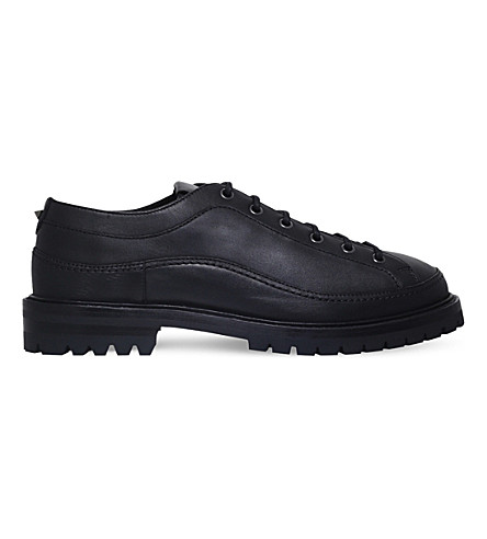 VALENTINO East End leather lace-up shoes (Black