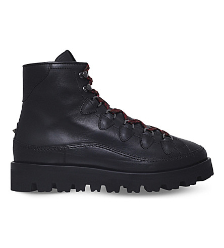 VALENTINO Hardwork leather hiking boots (Black
