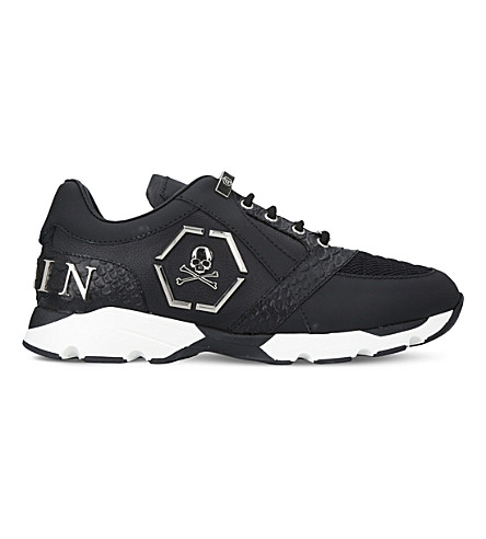 PHILIPP PLEIN Hanzo Runner leather trainers (Black