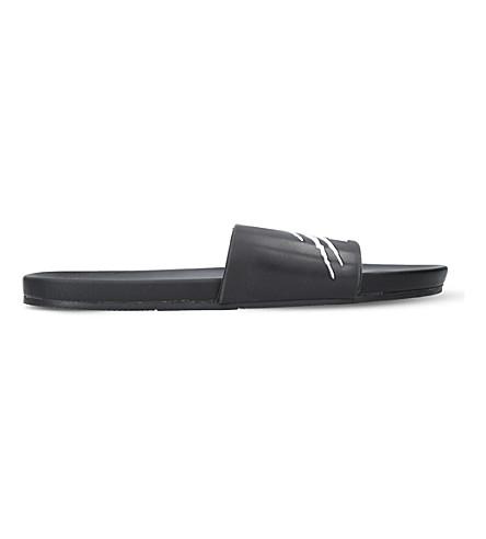 PHILIPP PLEIN Sport cat-motif rubber slides (Black