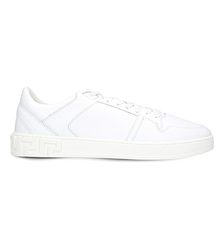 VERSACE Greco leather trainers (White/oth