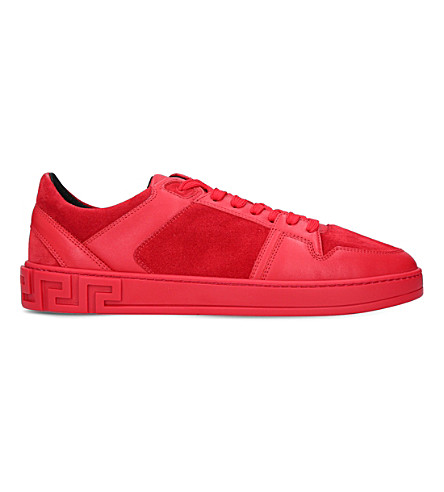 VERSACE Greco leather trainers (Red