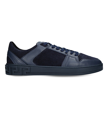VERSACE Greco leather trainers (Navy