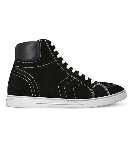 SAINT LAURENT Antibe suede trainers (Black