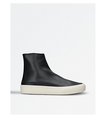 MAISON MARGIELA Glove high-top leather trainers (Black