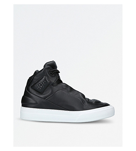 MAISON MARGIELA Frequency high-top leather trainers (Black