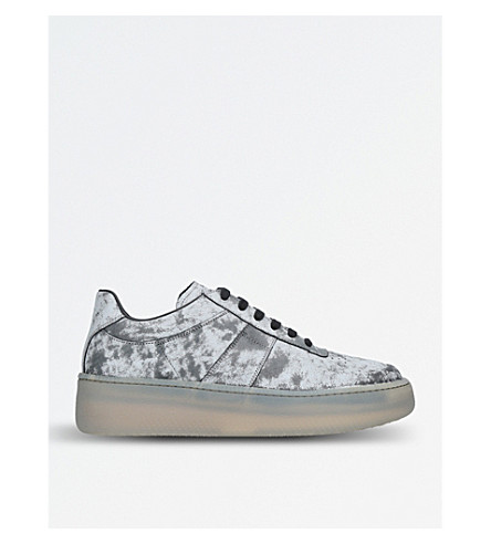 MAISON MARGIELA Wedge sole leather low-top trainers (Grey
