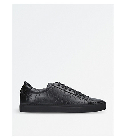 GIVENCHY Knot leather trainers (Black