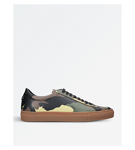 GIVENCHY Knot camouflage trainers (Khaki