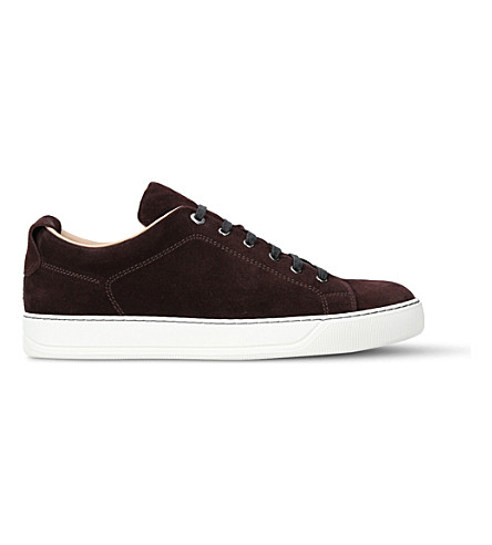 LANVIN Low-top suede trainers (Wine