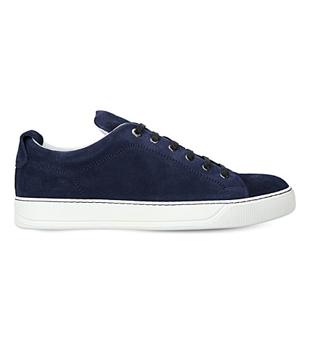 LANVIN Low-top suede trainers (Blue