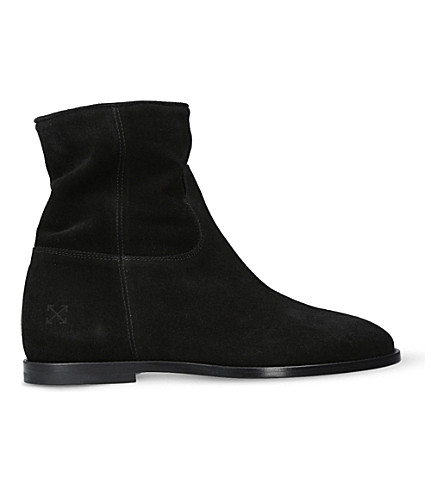 OFF-WHITE C/O VIRGIL ABLOH Workwear zipped suede boots (Black