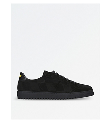 OFF-WHITE C/O VIRGIL ABLOH Low-top check leather trainers (Black