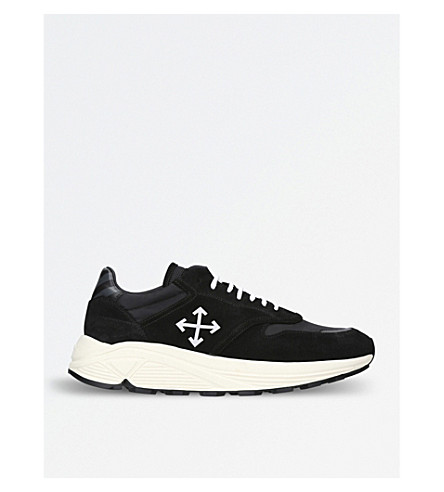 OFF-WHITE C/O VIRGIL ABLOH Arrow-detail leather trainers (Blk/white