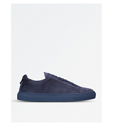GIVENCHY Knot suede lace-up sneakers (Navy