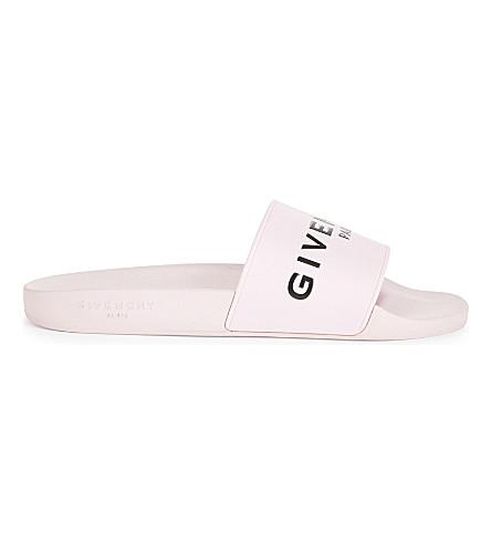 GIVENCHY Logo rubber slides (Pink