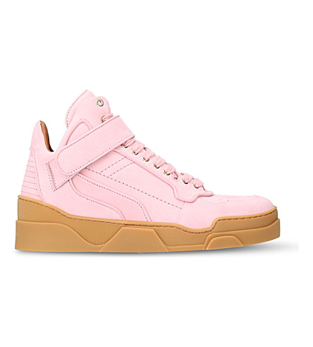 GIVENCHY Tyson high-top nubuck trainers (Pink