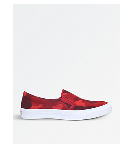 A BATHING APE Colour Camo canvas skate shoes (Red