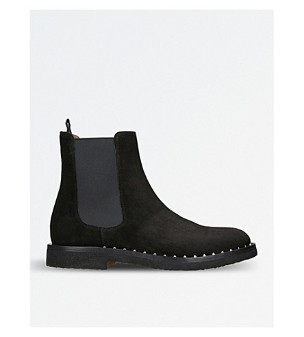 VALENTINO Soul studded suede Chelsea boots (Black