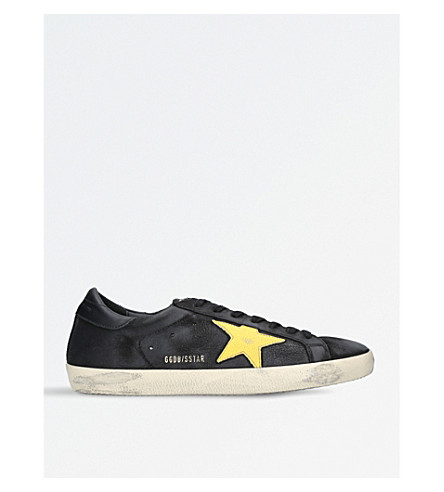 GOLDEN GOOSE Superstar leather trainers (Blk/other