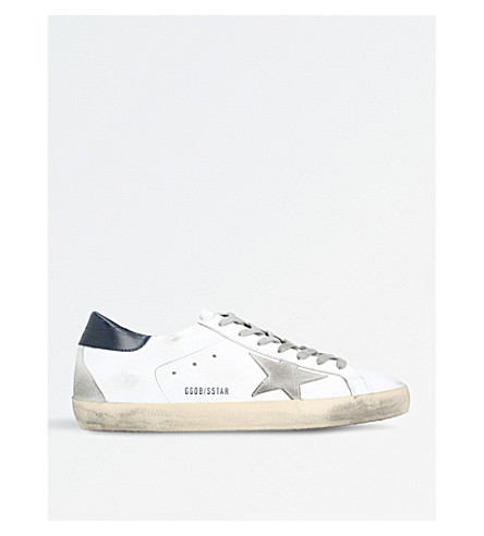 GOLDEN GOOSE Superstar leather trainers (White/navy