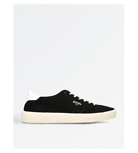GOLDEN GOOSE Tennis suede trainers (Black
